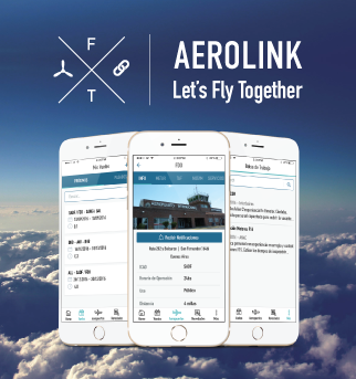 Aero Link logo with iOS screenshots